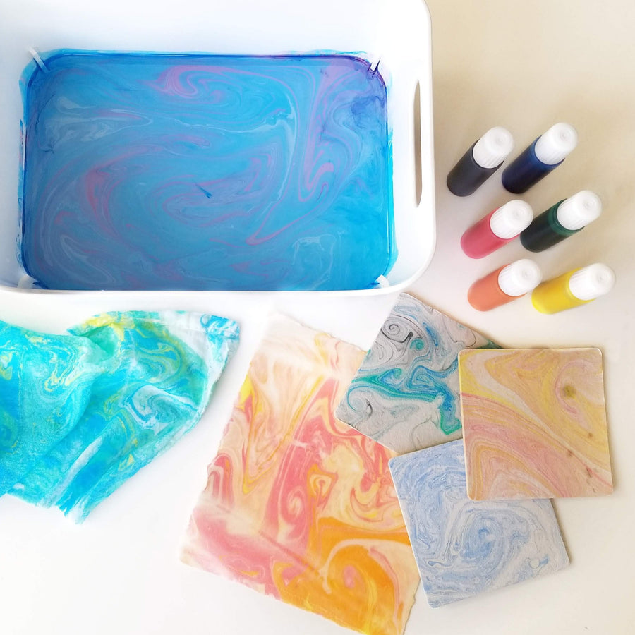 paper fabric marbling inks kit