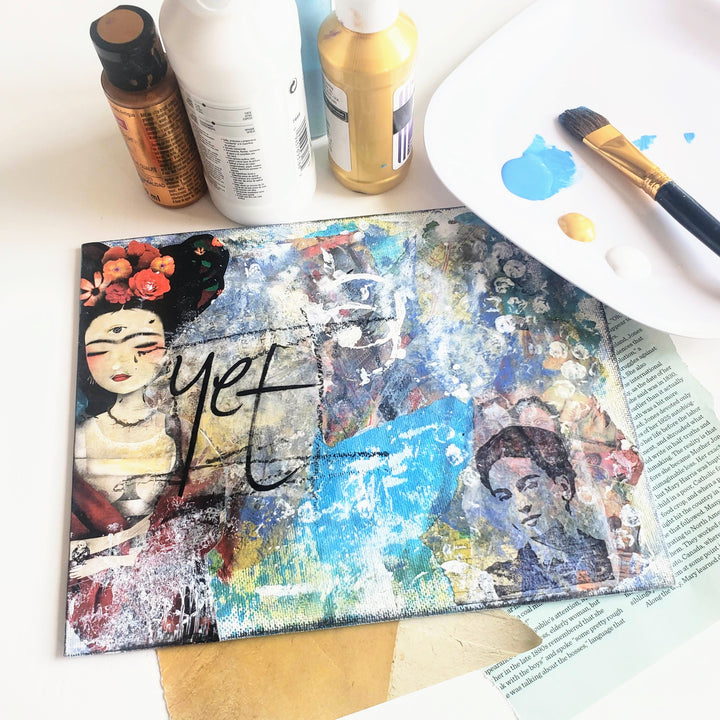 mixed-media collage art class
