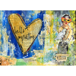 mixed media collage on canvas class