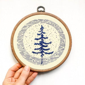 moonlight pine how to embroidery kit