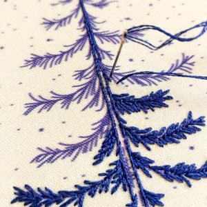 embroidery stitching close up of kit