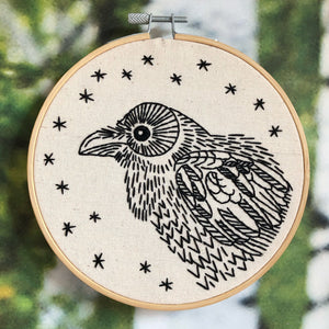 nevermore beginner's embroidery kit