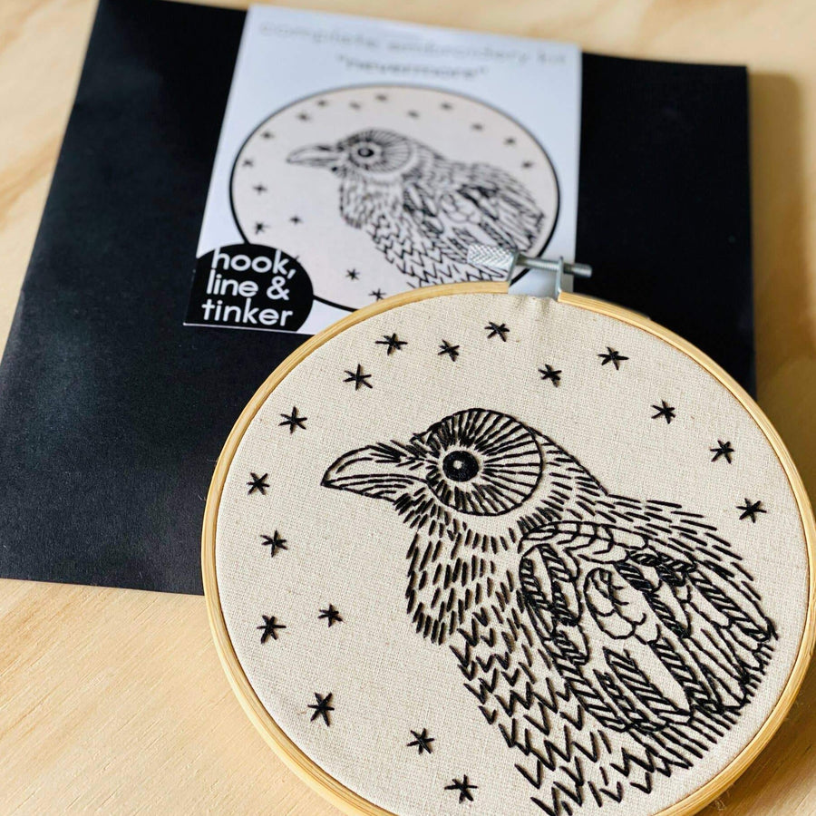 Nevermore Raven Embroidery Kit
