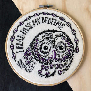 night owl embroidery kit