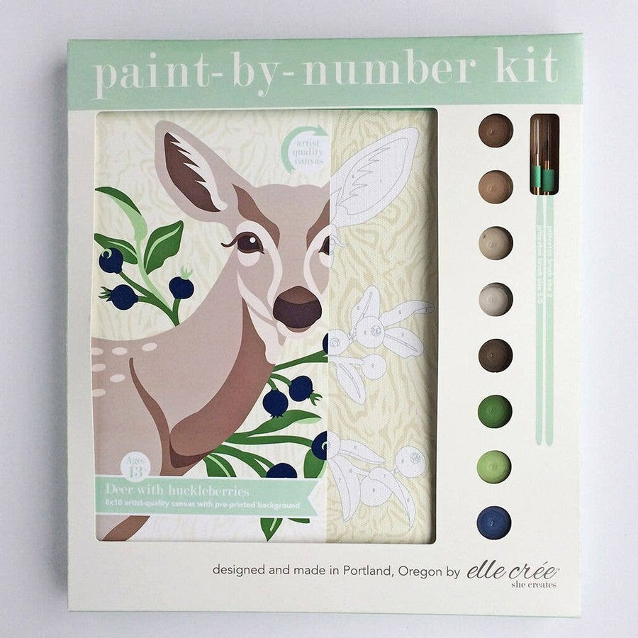 deer animal paint by number kit