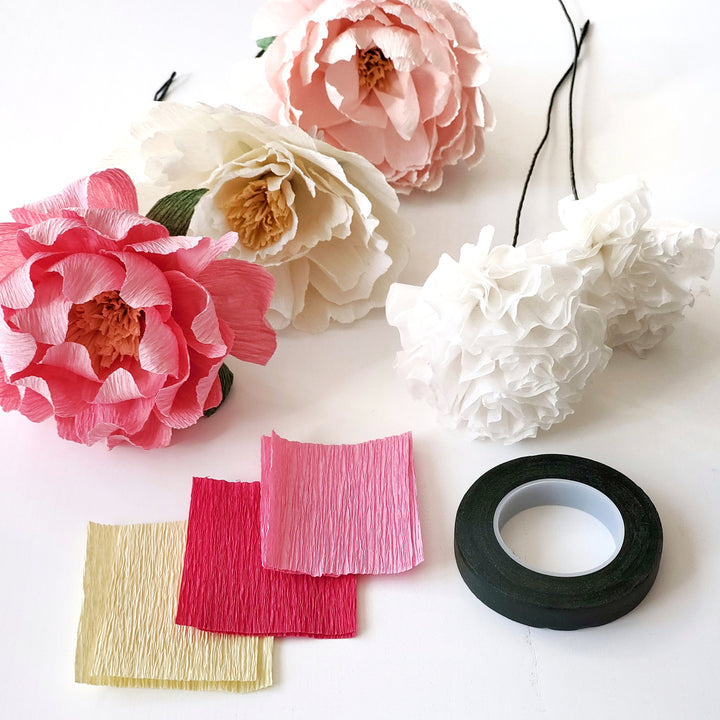 paper flowers peony workshop