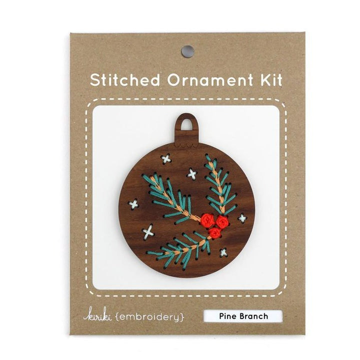 diy embroidered wood ornament kit
