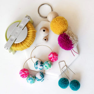 pom pom jewelry making workshop portland