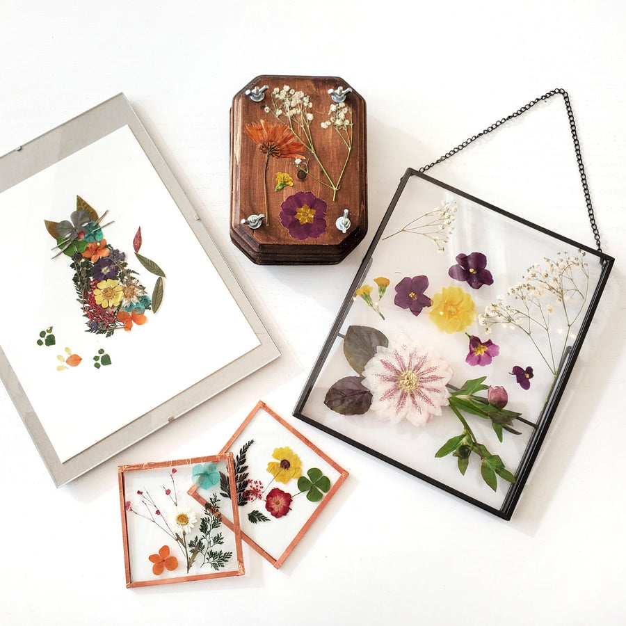 pressed flower crafts diy