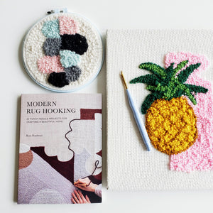 punch needle rug hooking book