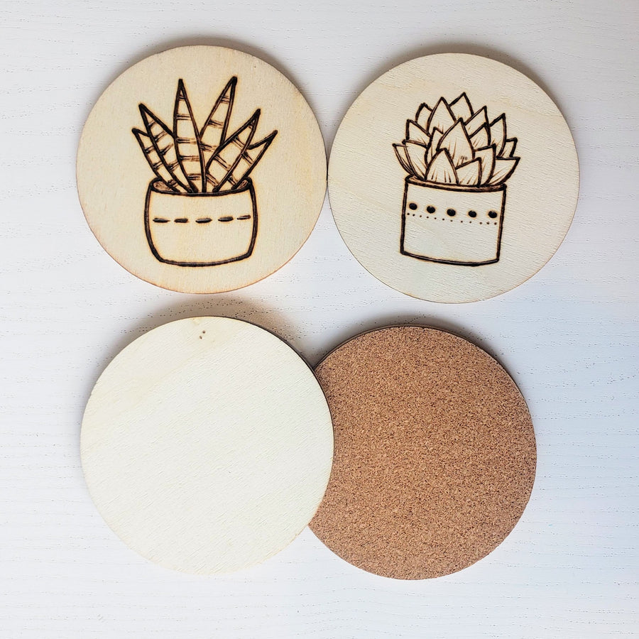 blank wood coasters for wood burning