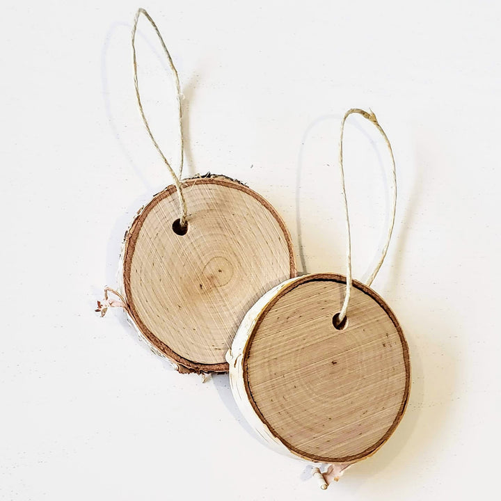 wood burning wood slice ornaments