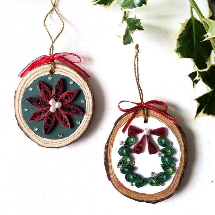paper quilling christmas ornament class