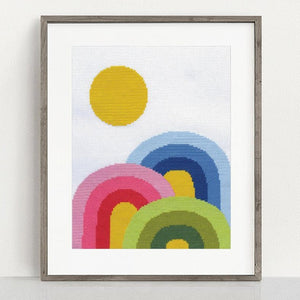rainbow cross stitch kit lisa congdon