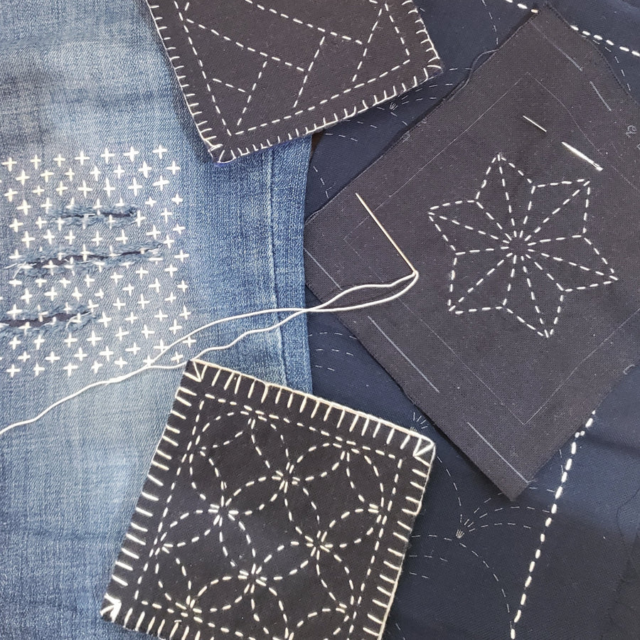 Star Sashiko Embroidery Placemat Set