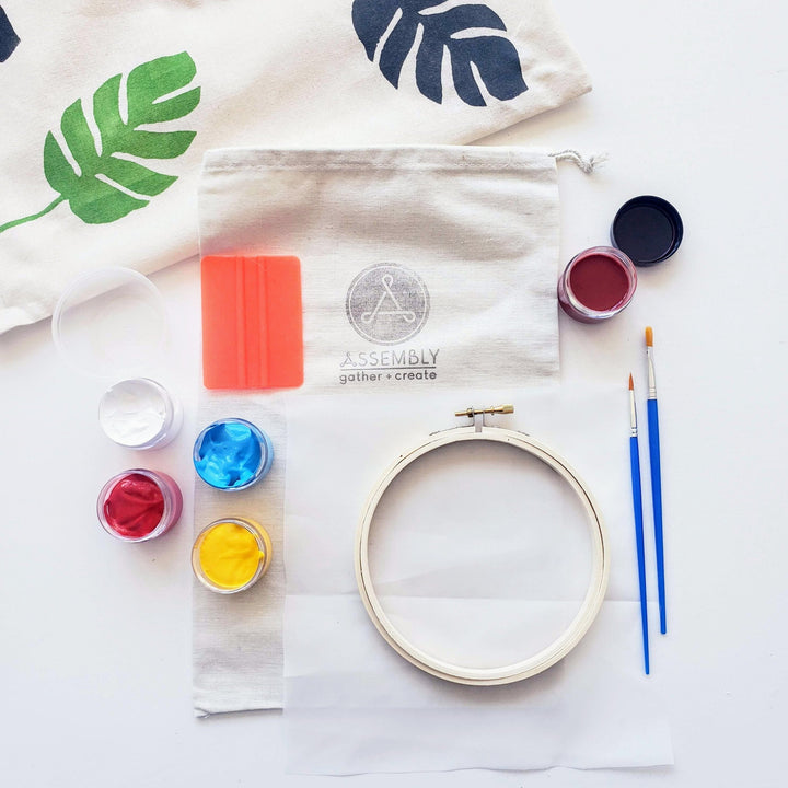 diy screen printing on fabric kit
