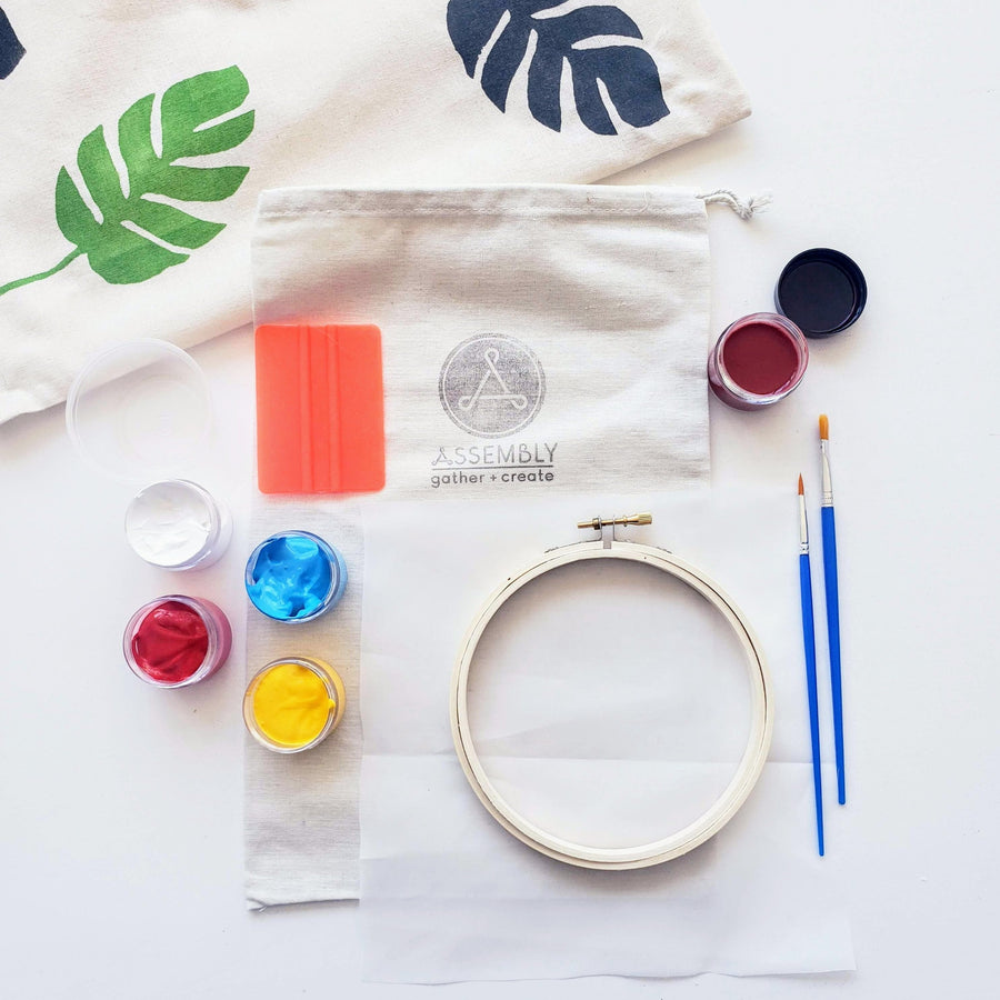 Diy Screen Printing On Fabric Kit Assembly Pdx