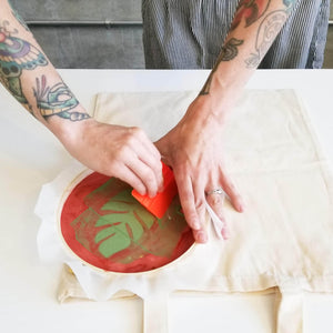 screen printing on tote bag how to