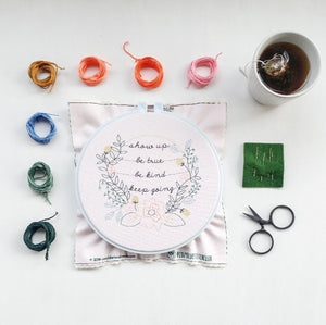 cozyblue embroidery kit