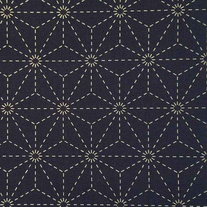 star sashiko embroidery fabric kit