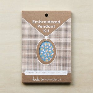 diy embroidery kit pendant necklace kiriki press
