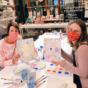 learn how to watercolor paint class