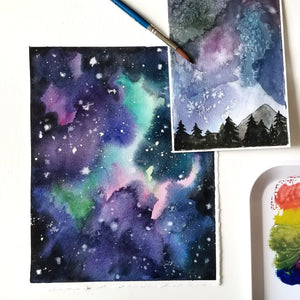 galaxy watercolor painting