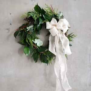 diy wreath workshop seasonal holiday decoration