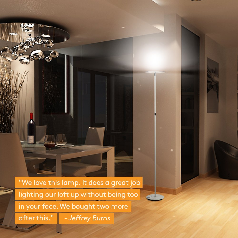 Lamps Led Torchiere Floor Lamp Dimmable Uplight Living Room