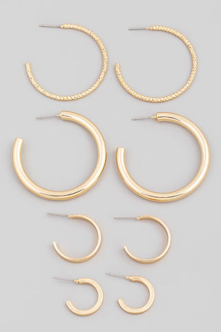 Mutli Circle Hoop Earring Set