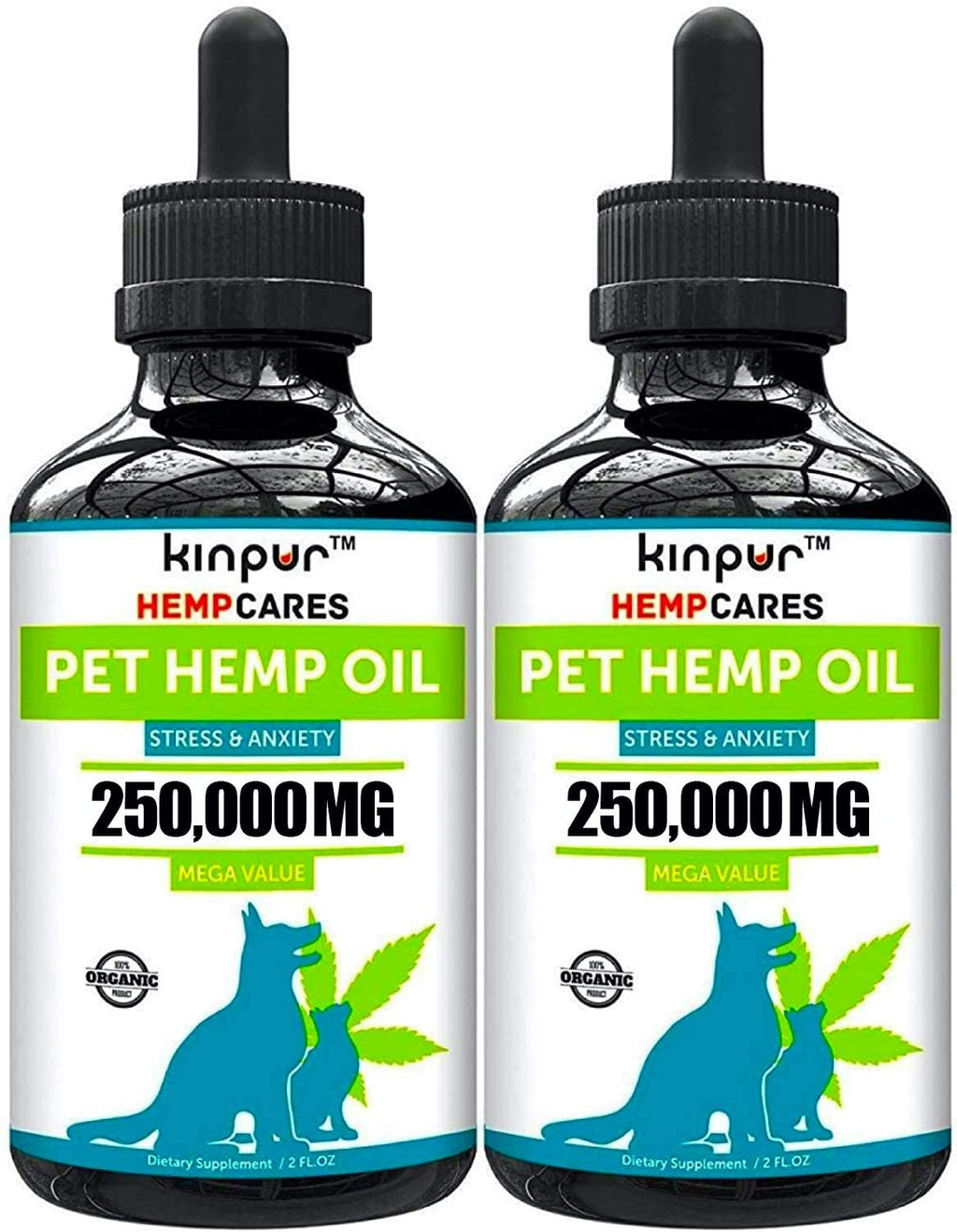Kinpur (2 PACK | 500,000MG) Hemp Oil for Dogs & Cats Kinpur