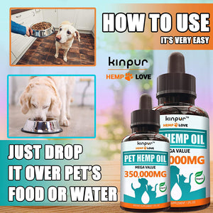 Kinpur Hemp Oil for Dogs & Cats (2 Pack)