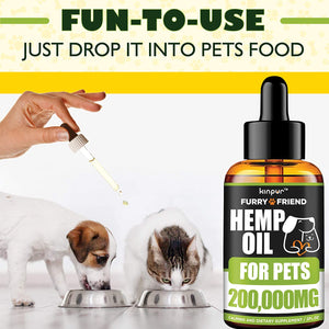 Kinpur Hemp Oil for Dogs & Cats – 200,000 MG