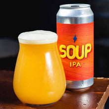 Garage Soup IPA can & glass