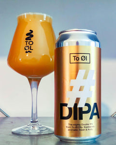 To Øl #DIPA can & glass