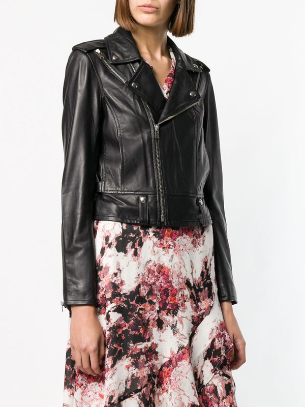 Iro Oza Black Leather Jacket