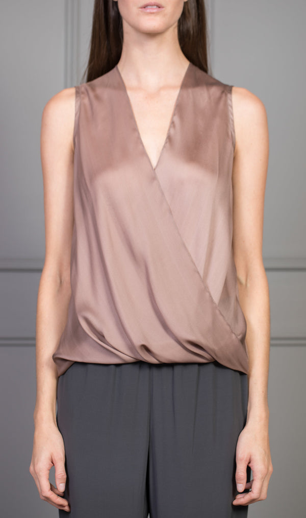 CLEMENTINE'S x MEROTTO Sleeveless Wrap Top
