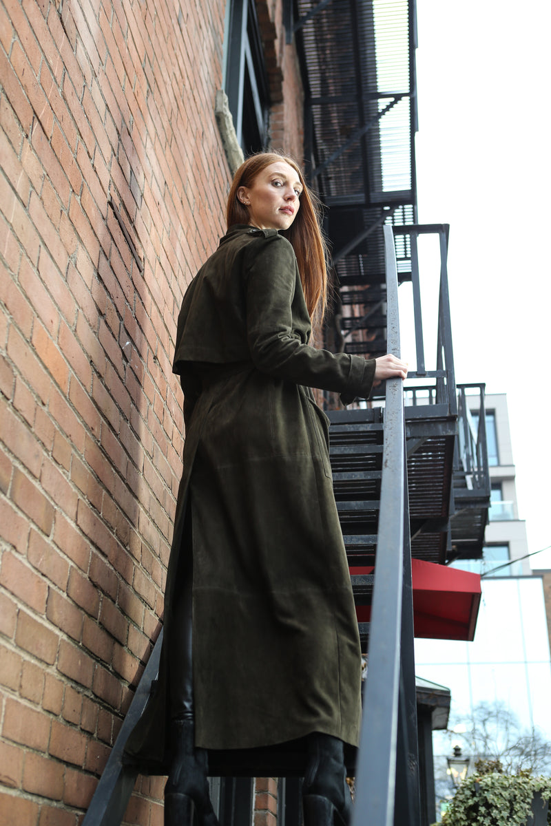 CLEMENTINE'S PRIVÉ Suede Trench Coat