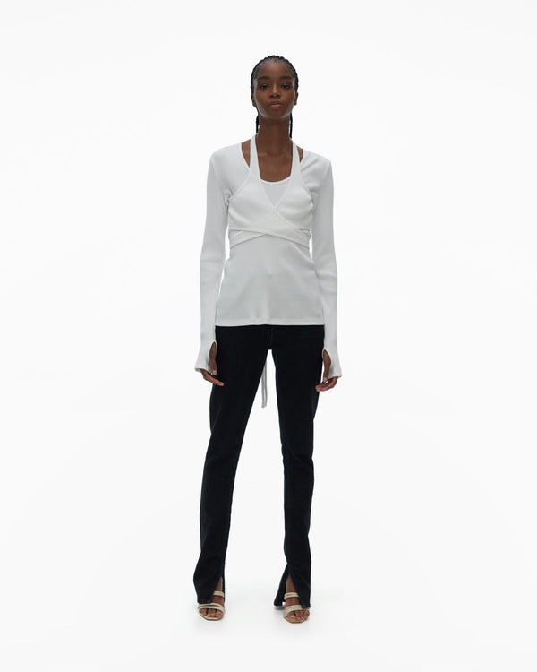 Helmut Lang Wrap Long Sleeve Tee