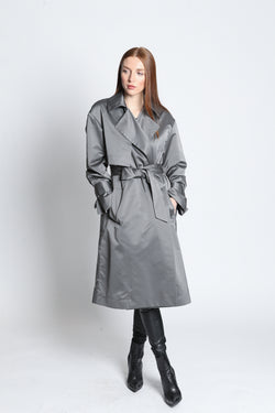 CLEMENTINE'S Privé Silk Trench
