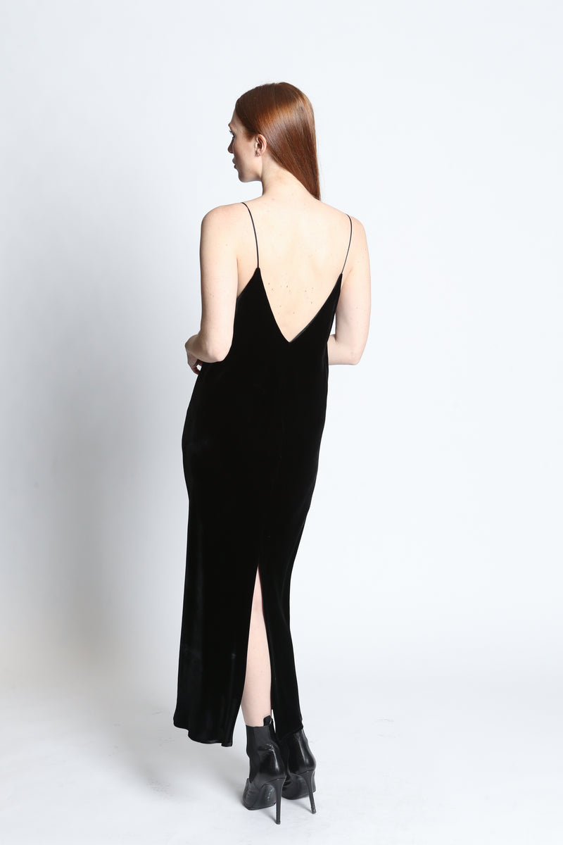CLEMENTINE'S x Merotto Sasha Slip Velvet Dress