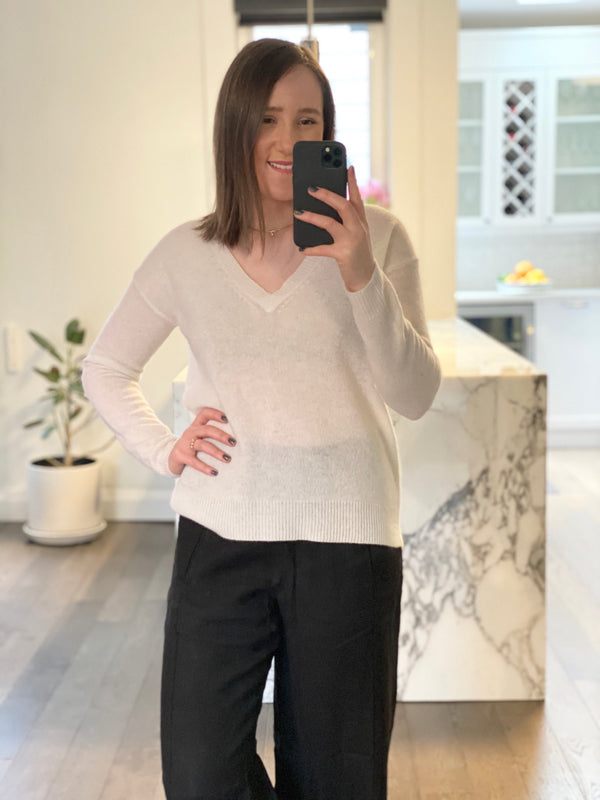 Oats Cashmere Lanny V Neck Sweater