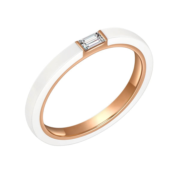 Hestia Cera Ceramic Diamond Ring