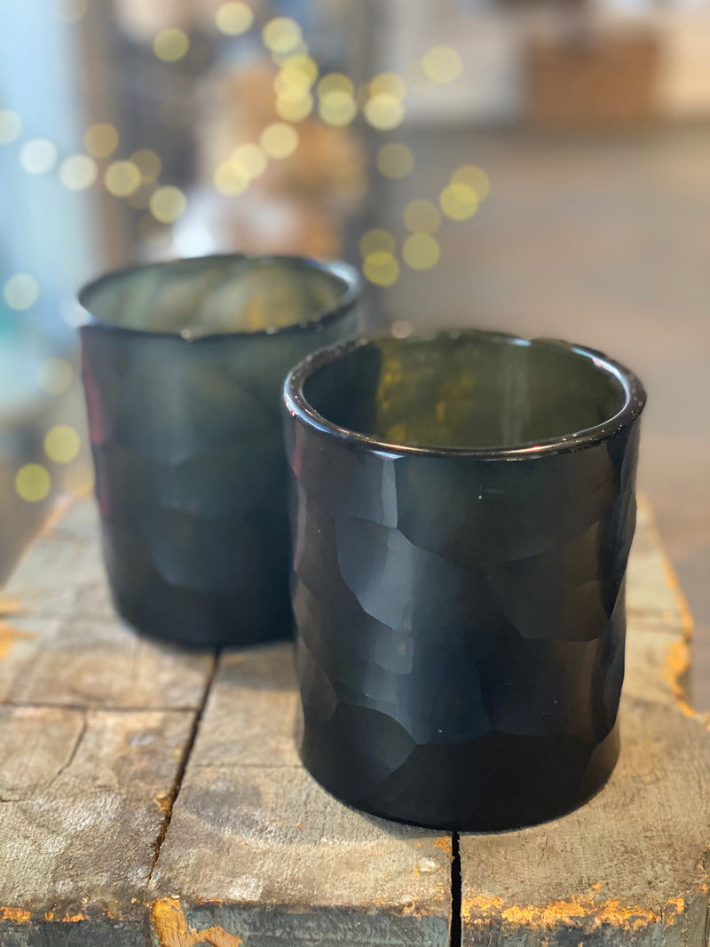 Black Geometric Votive