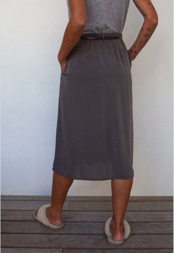 Private Midi Silk Skirt