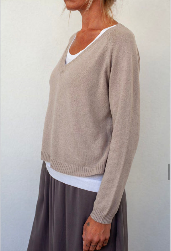 Private Knit V-neck Sweater