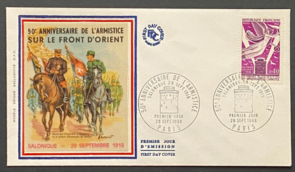 France FDC, envelopes of old stamps