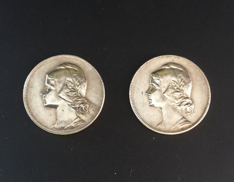 Complete set of 2 old coins of 4 Centavos - Portugal - 1917 and 1919  Facial value: 4 centavos  Year: 1917 and 1919 Time: República Portuguesa from 1910