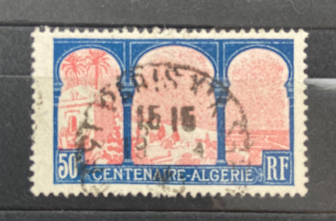"""Centenaire de l'Algérie Française"" - 1st century of French Algeria - 50 centimes used old stamp - France - 1930  Type: typography Yvert & Tellier: 263"