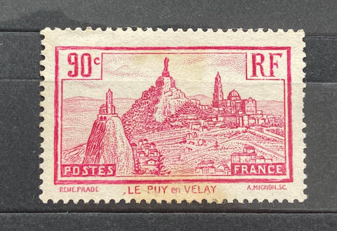 Le Puys-en-Velay 90 centimes mint never hinged old stamp - France - 1933  Type: taille douce Yvert & Tellier: 290